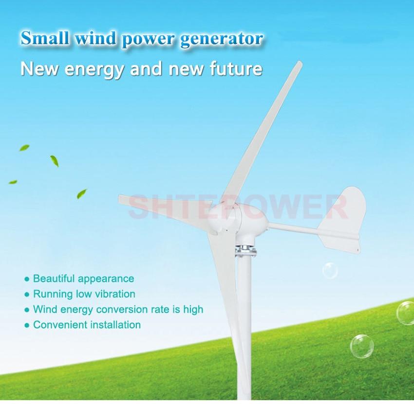 3/5 pales moulin à vent triphasé ac 12 V 24 V 48 V options éoliennes 500 W générateur de vent application à domicile