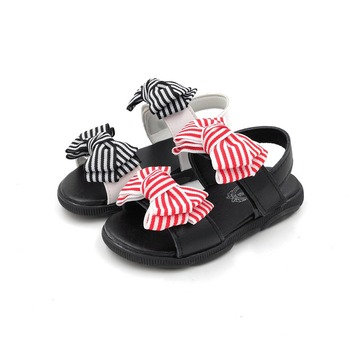 COMFY KIDS Hot Sale Baby Girl Sandals Fashion Big Bowtie Girls Shoes Flat With Princess Sandals for Kids Sandals 13-18CM image