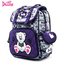 Delune Orthopedic Waterproof Children School Bag Girls Boys Grade 1 4 Backpack Cartoon Mochila Infantil Large