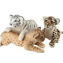 40 60cm 4 Stilleri Yumuşak Doldurulmuş Hayvanlar Yalan Kaplan peluş oyuncaklar Yastık Aslan Peluche Kawaii Leopar Bebek Kız Oyuncakları çocuklar için