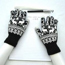 Women #8217 s Gloves Christmas Warm Gloves Fun Christmas Knitted Touch Gloves Men #8217 s And Women #8217 s Gloves Touch Screen Gloves Luva#10 cheap Adult Unisex Polyester Print Wrist Gloves Mittens Fashion