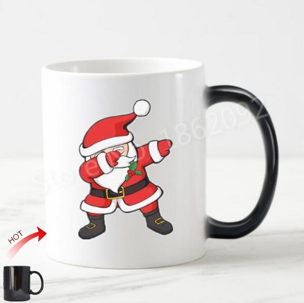 Funny Dabbing Santa Christmas Magic Mug Novelty Santa Claus Dab Coffee Mugs  Cute Cups Joke Creative Xmas Gifts Color Change 11oz In Mugs From Home U0026  Garden ...