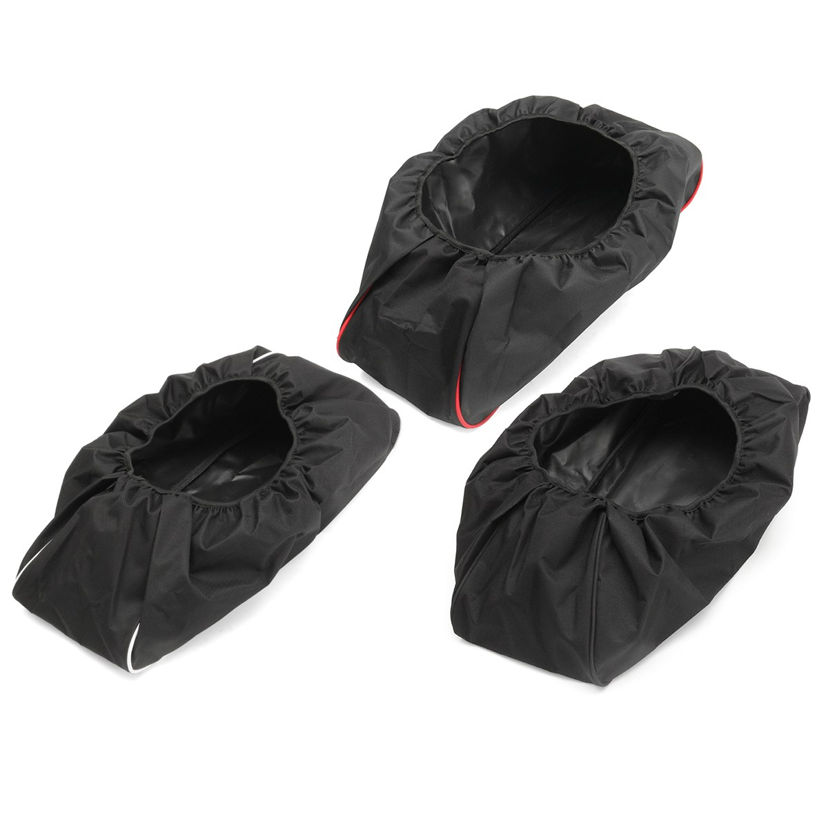Black/White/Red 600D Waterproof Car Cover Soft Winch Dust Cover 8,000-17,500 lbs Trailer SUVs Nylon Oxford 56*24*18cm