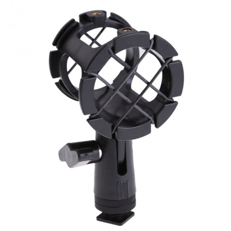 Mic Microphone Shock Mount Holder Camera Shock Mount Suspension Holder With Hot shoe For Microphone Mic