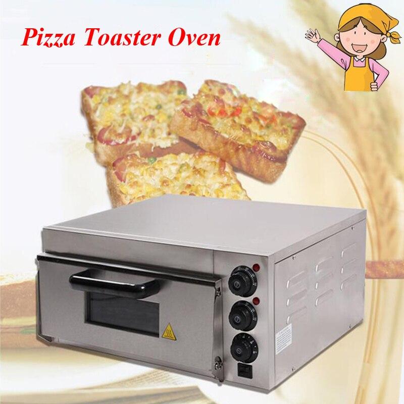 Machine à Pizza électrique en acier inoxydable thermomètre Commercial four à Pizza simple/Mini four de cuisson/pain/four à gâteau EP-1ST