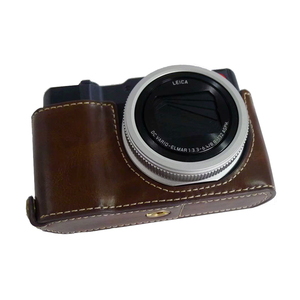 Image 5 - Pu Leather Case Half Body Cover Base For Panasonic TZ200 ZS220 TX2 Camera bag with Bottom Opening Version