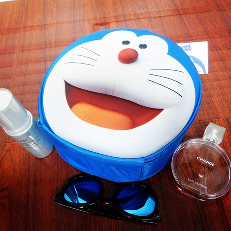 Cartoon Stereo Touch A Doraemon Jingle Cats Cuter Function Waterproof Nylon Makeup Tool Storage Bag Hand Wash Bag Free Shipping