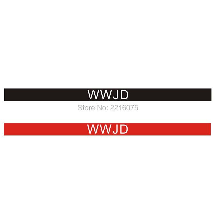 300pcs White logo Religious w.w.j.d. WWJD wristband silicone bracelets free shipping by DHL express