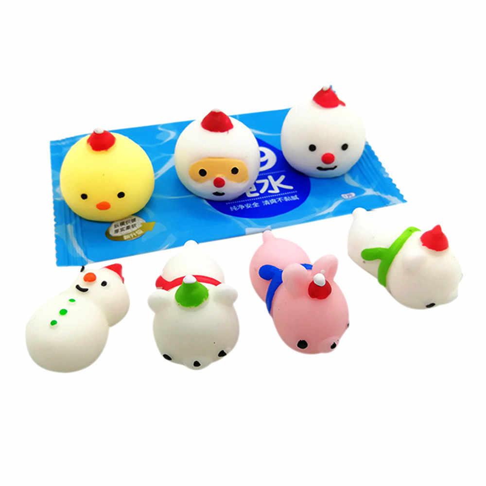 24PC Christmas Toys Mini Cute Squeeze Funny Toy Soft Stress Relief Toy DIY Decor Collection Funny Kids Gift Toy