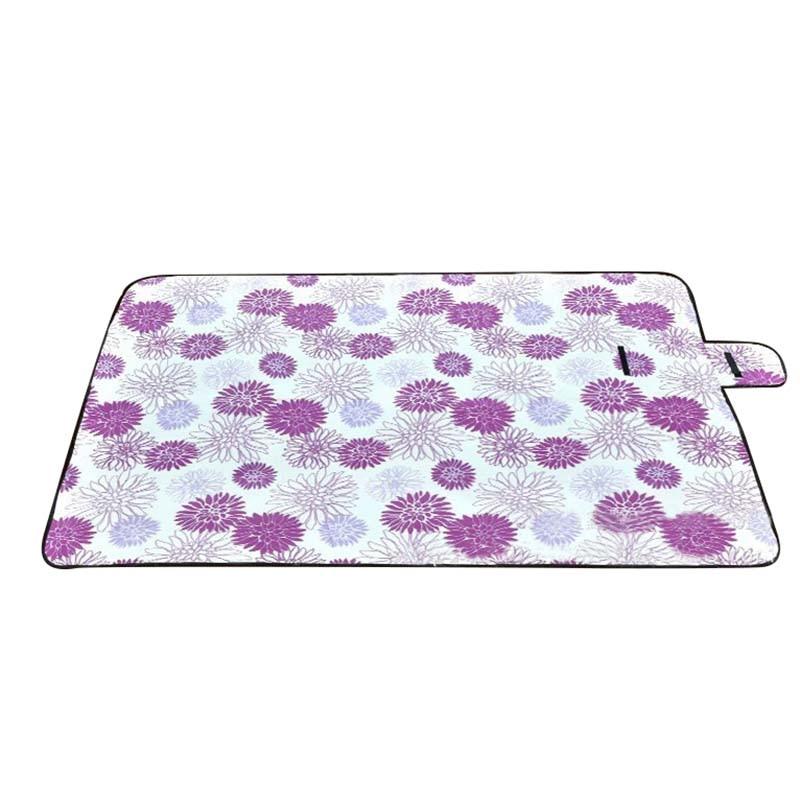 Extra Large Picnic Blanket Rug Mat Waterproof Rug Travel Camping Beach Kids Baby Purple Flower