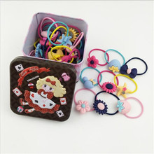 40Pcs/Lot Hairband Flower Bow Rope Cartoon Headband Cute Box Set