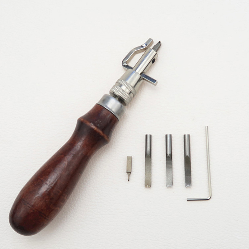 1X Multi-Functional DIY Leather Oblique Edger Trimming Edge Trimmer Craft Tools