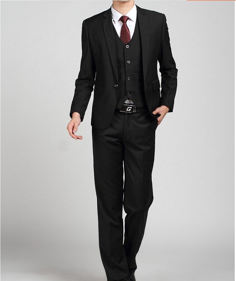 Los hombres baratos trajes de la marina de guerra Slim Fit Tuxedos - Ropa de hombre - foto 5
