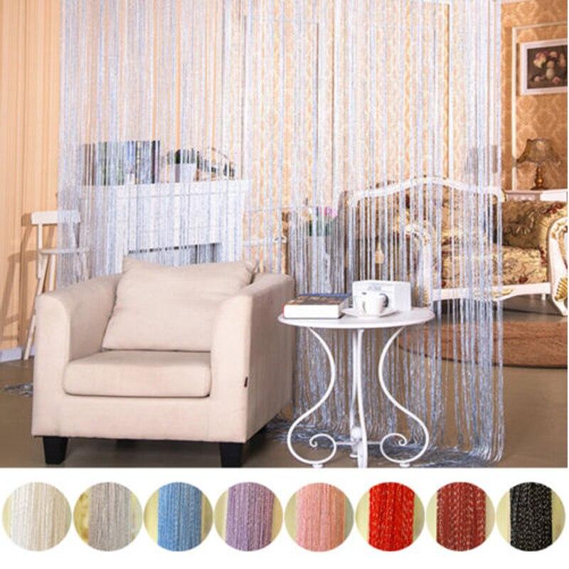 String Curtain Shiny Tassel Glitter Line Curtains Window Door Living Room Decor Valance Wedding DIY Home Decoration 300 X 290cm