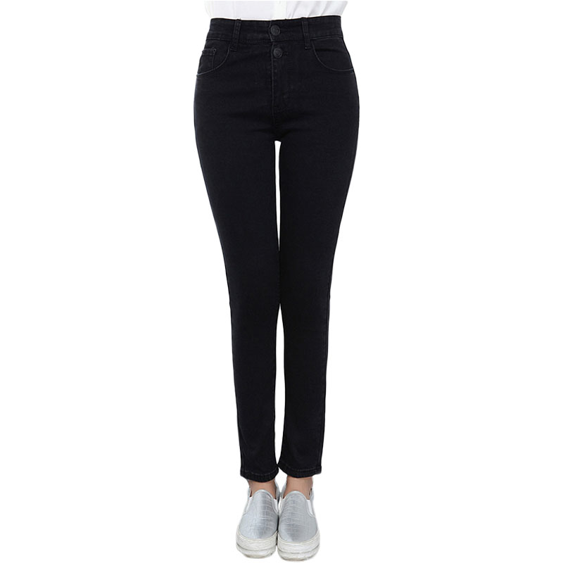 Autumn Large size Stretch High Waist Women Skinny Jeans Women Fashion Slim Pencil Jeans Tight Female Denim Pants woman Plus size rosicil new women jeans low waist stretch ankle length slim pencil pants fashion female jeans plus size jeans femme 2017 tsl049