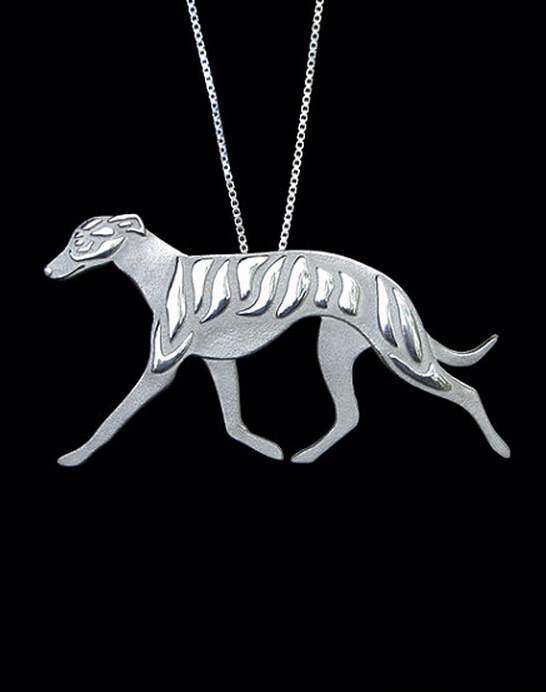wholesale cartoon Boho Chic Alloy Whippet movement necklace Greyhound dog pendant jewelry Silver/gold colors plated 12pcs/lot