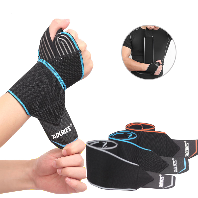 1 piece rf 12 5 7 5 cm protector wristbands wrist support for gym tennis weightlifting sport carpal wrist brace cotton wrist 1Pc Weight Lifting Hand Wrist Straps Wrist Support Protector Sport Wristband Carpal Tunnel Wrist Brace Gym Fitness Wraps Bandage