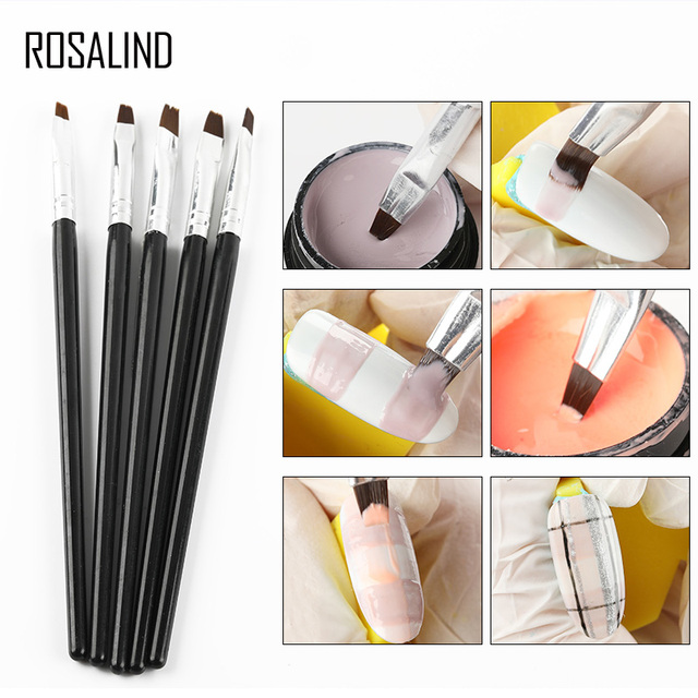 ROSALIND Gel polish nail Brush For Manicure tool Set 3D Pen Gel Acrylic Brushes Liner Nails Accessoires decoration Brushes 4