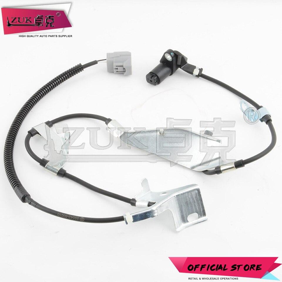 ZUK Auto ABS Sensor Wheel Speed Sensor Voor Toyota LAND CRUISER 100 1998-2007 4700 4.7L Voor LEXUS LX470 1998-2007 HDJ101 UZJ100