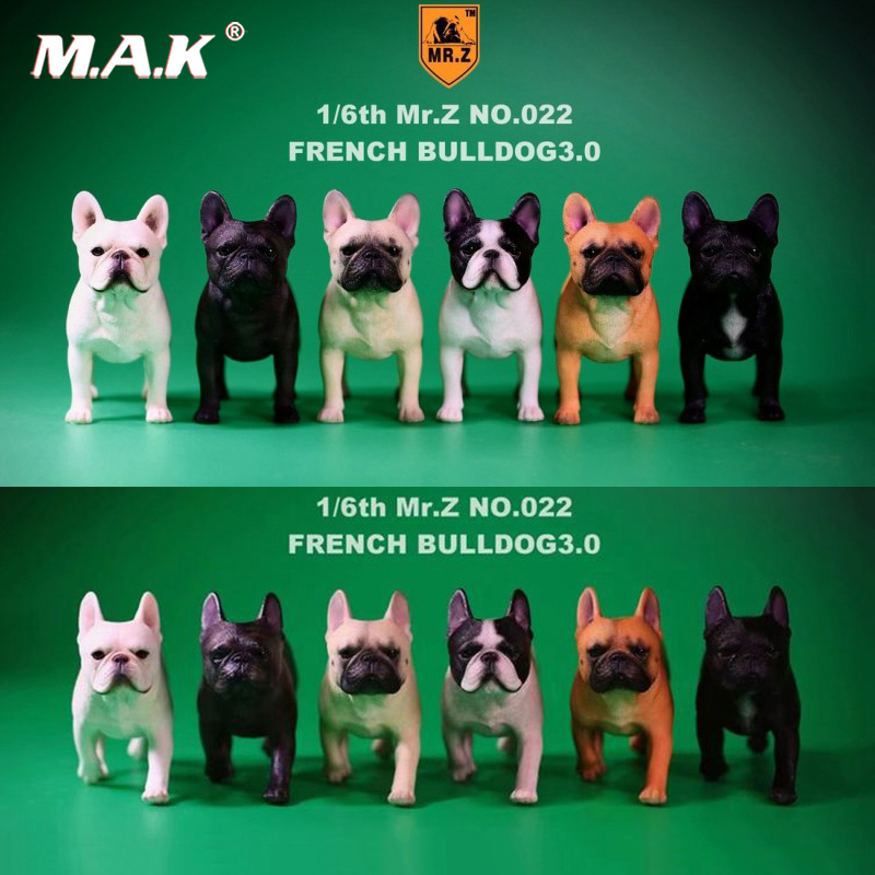 купить 2 pcs/set 1/6 FD002 French Bulldog 3.0 Canis Familiaris Black Pet Dog Model F Collection 6 colors for 1/6 action figure по цене 3296.78 рублей