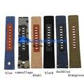 Canvas strap pulseira largura 24mm 26mm 28mm faixa de relógio de Pulso acessórios Inferior é de couro Macio couro Genuíno DZ1600 DZ4323