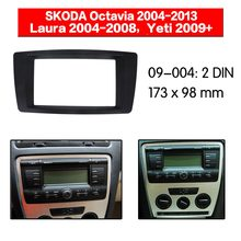 La Radio del coche de la Fascia Kit de Marco multimedia para SKODA Octavia 2004-2013 Facia del Panel frontal CD doble Din Audio bisel Kit de montaje de Panel(China)
