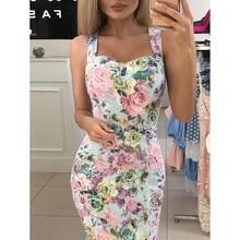 ZOGAA dress women summer flower printed 2019 floral Print Color Block Sleeveless Dress Maxi Mini Sundress sexy Tight hips dress