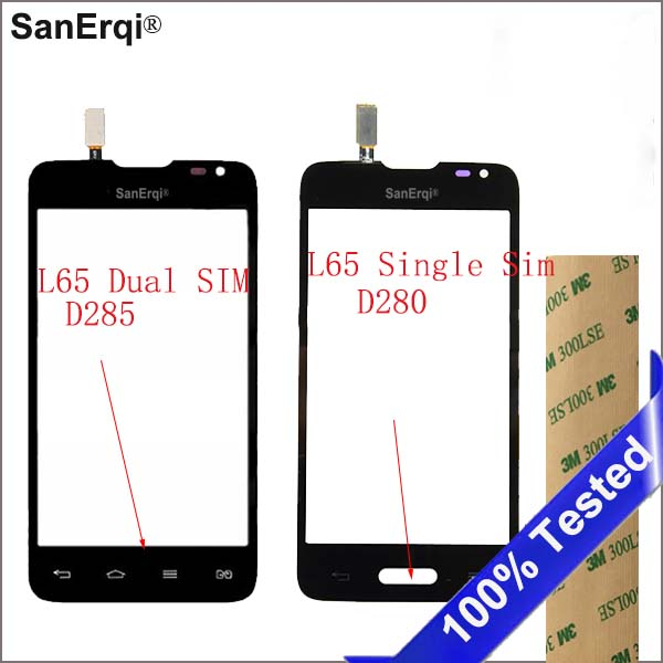 SanErqi Touch Screen Digitizer For L65 Panel Sensor Glass Lens For LG Series III L65 D280 D280N L65 D285 Touchscreen