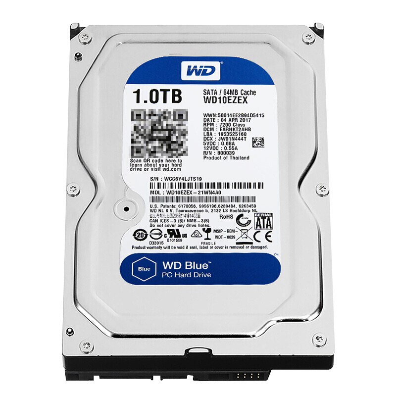 Brand New Western Digital WD Blue 1TB <font><b>HDD</b></font> Internal Hard Disk Drive <font><b>3.5</b></font>