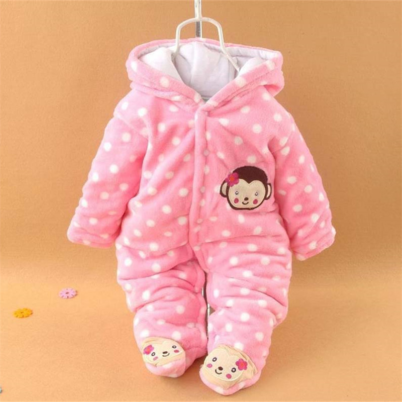 Winter Baby Rompers Cotton Baby Girl Clothes Cartoon Baby Boy Clothes 2017 Newborn Baby Clothes Roupas Bebe Infant Jumpsuits