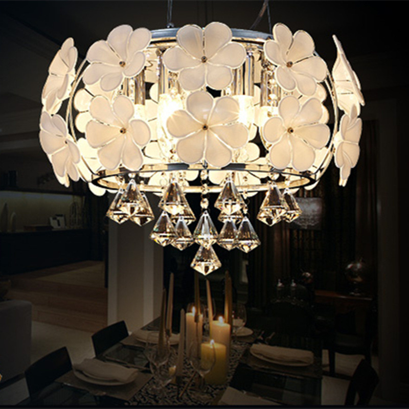 Modern Pendant Lamp Crystal Chandelier Lamparas Colgantes Suspension Luminaire Iluminacion Interior D45 D55 D65 Hanging Light