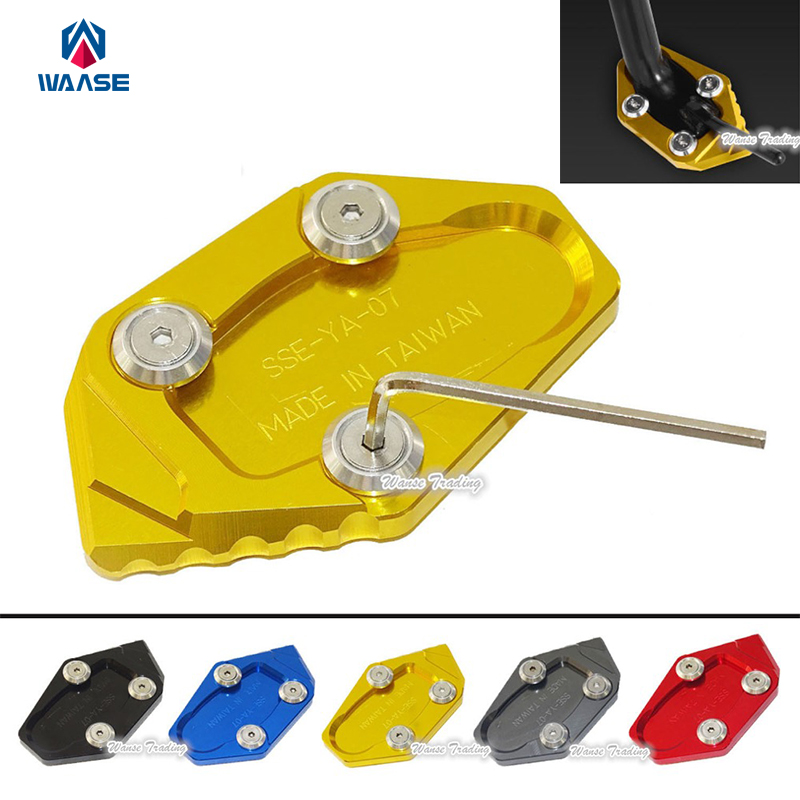 Motorcycle Kickstand Foot Side Stand Extension Pad Support Plate For Yamaha YZF R3 R25 MT-03 MT-25 2014 2015 2016 for yamaha mt09 mt 09 mt 09 2013 2015 2014 new motorcycle parts kickstand foot side stand enlarge extension pad support plate