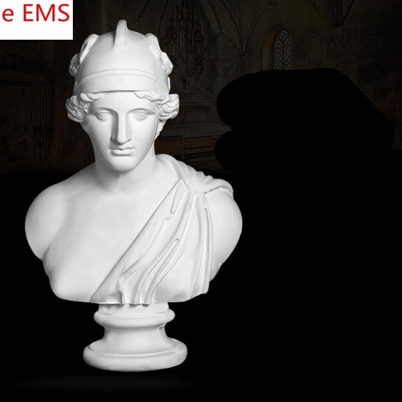 78cm Gypsum Bust God of War Statue Gypsum Powder Craftwork Home Decorations Art Material L2318 цена