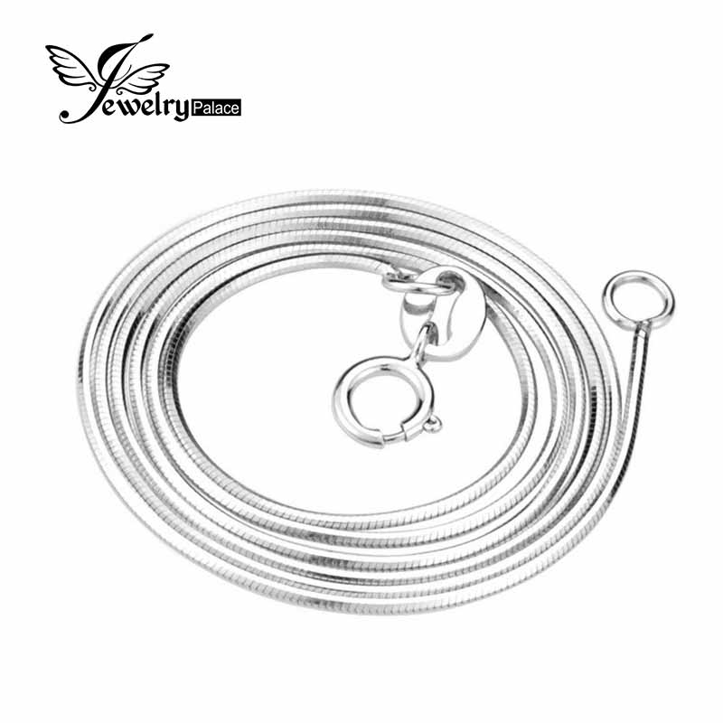 100% Real Pure 925 Sterling Silver Necklace 16 18 Inch Snake Necklaces Chain For Women Girl Top Quality Fashion Jewelry 2016 New