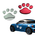 1 Pair Car Body reflective stickers personality Waterproof cute funny 3D Dog paw Soft PVC car stickers Bumper Stickers