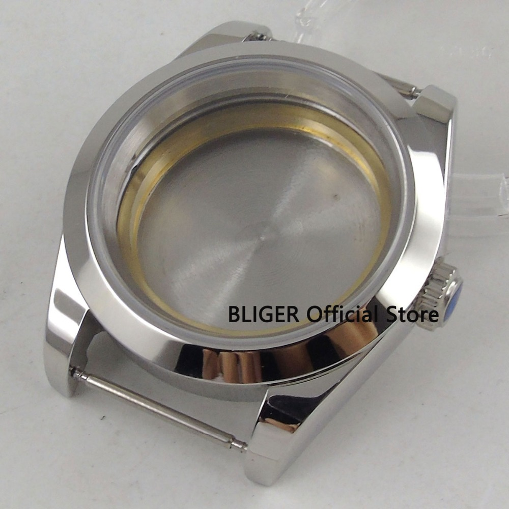Sapphire Glass 40mm Polished Stainless Steel Watch Case Fit For ETA 2824 2836 MIYOTA 8215 Mingzhu 2813 Automatic Movement C55A цена