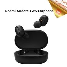 Fones de ouvido redmi tws airdots originais, estéreo, bluetooth 5.0, sem fio, com microfone, caixa de carregamento, controle ia