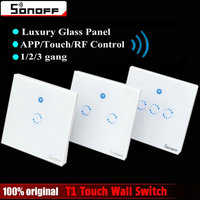 Sonoff T1 Smart WiFi RF APP Touch Control Wall Light Switch 1 2 3 Gang 86