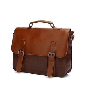 Image 2 - Zebella حقائب رجال الأعمال خمر بو الجلود براون رجل محمول حقيبة ساع المحفظة الكلاسيكية وثيقة حقيبة مكتب جديد