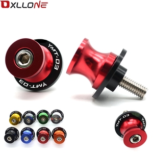Image 1 - CNC Aluminum Motorcycle Accessories Swingarm Spools Slider 6mm Swing arm Stand Screws With LOGO For YAMAHA MT03 MT 03 MT 03