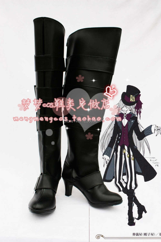 Black Butler Kuroshitsuji Undertaker Cosplay Boots Shoes Cos Shoes