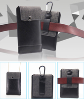 Hook Loop Shoulder Belt Clip Leather Mobile Phone Case For IPhone 8 Plus Oneplus 5 5t