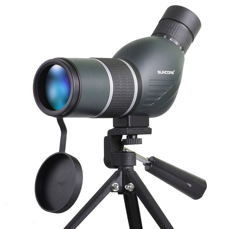 SUNCORE High Quality 12-36x50S Monocular Telescope HD Optic Zoom Lens with Adjustable Tripod for Camping Bird Watching Concert original boshile high power 15 75x25 mini zoom monocular pocket flexible focus zoom telescope for camping dy007