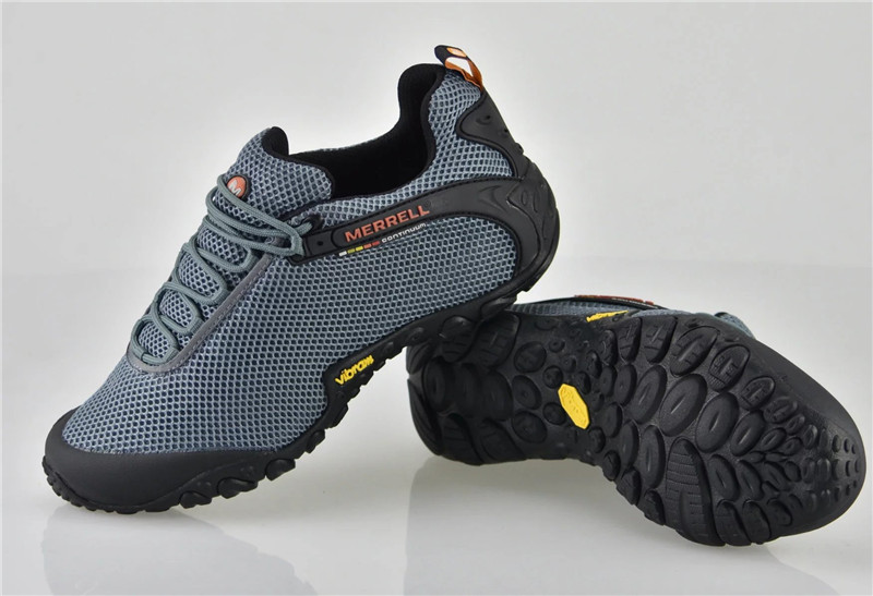 Merrell Outdoor Hiking Shoes Breathable Mesh Men Grey-Color Men's