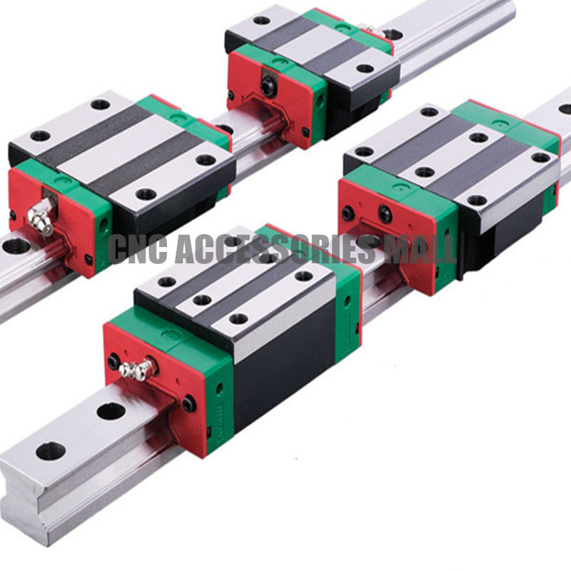 2pcs linear rail HGR25 L1000mm cnc parts and 4pcs HGH25CA linear guide rails block free shipping to argentina 2 pcs hgr25 3000mm and hgw25c 4pcs hiwin from taiwan linear guide rail