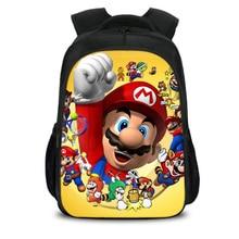 New Hot Cartoon Mario Backpack Bookbag Teens Back to School Bags Super Mario Gifts For Boys Girls Mario Bros Birthday Mochilas цена