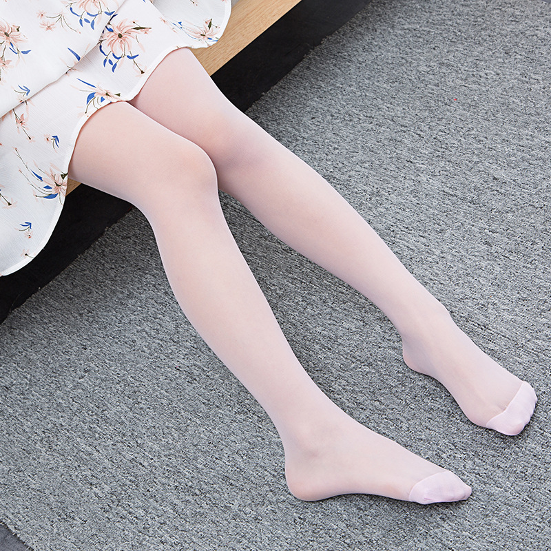 New Children Ultra Thin Pantyhose For Girls 5 Color Transparent Elastic Baby Pantyhose Toddler Stockings Kids Footless Tights