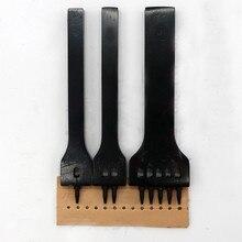 DIY Leder Handwerk Stanzen Werkzeug 1/2/5 Prong Loch Reihe Circular Cut Genäht Loch Abstand Bohren Leder Handwerk Werkzeug