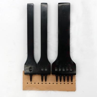 पीजीएफ चमड़े की नक्काशी उपकरण 5 छेद गोल कट संयोजन 5 मिमी की जगह