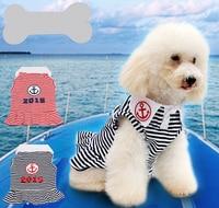 1 stks hond kat mode strip sailor jurk doggy nieuwe mooie prinses rokken kleding puppy jurken kostuum huisdieren accessoires XS-L